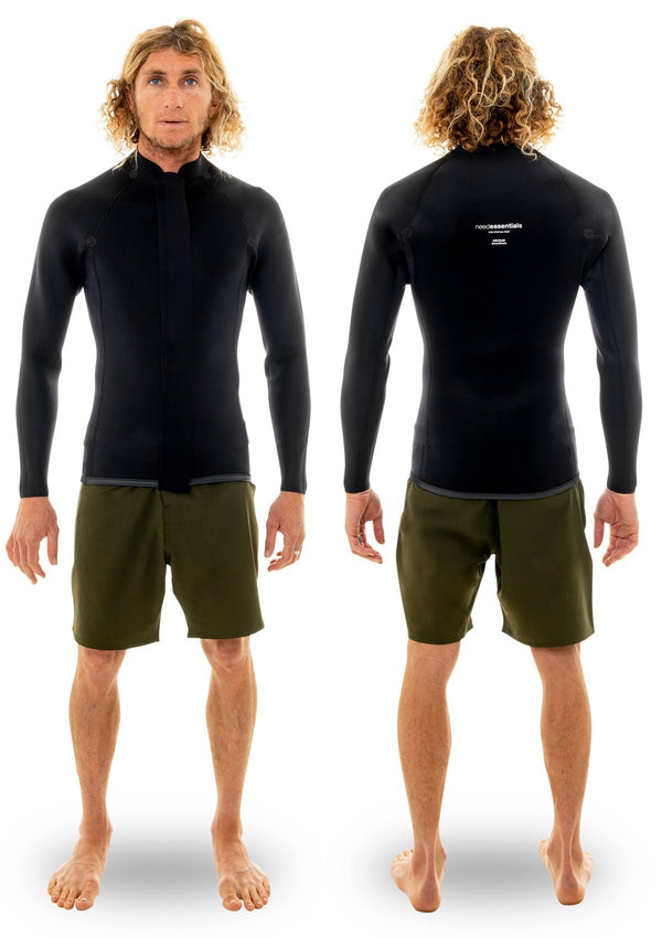 needessentials 2mm Smoothy Front Zip Jacket summer wetsuit