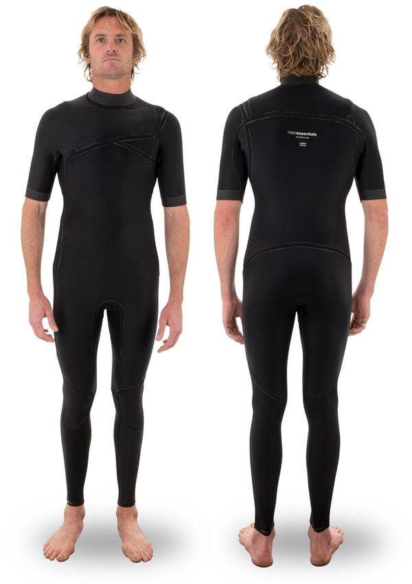 needessentials 2mm Chest Zip Short Arm summer steamer laurie towner big wave surfing non branded wetsuit