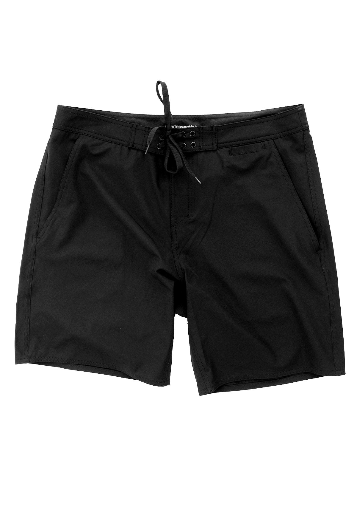 needessentials pocket mens surfing boardshorts non branded black
