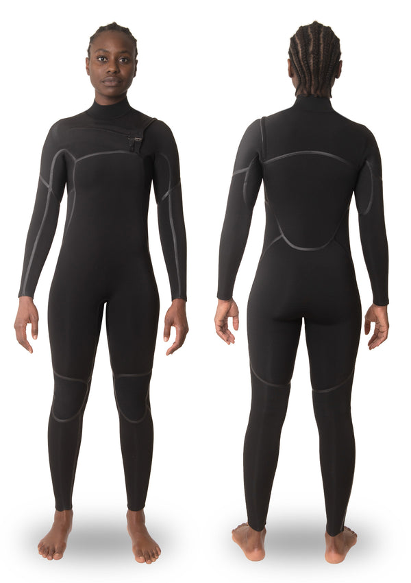 Womens 4/3 Liquid Taped Thermal Chest Zip Wetsuit