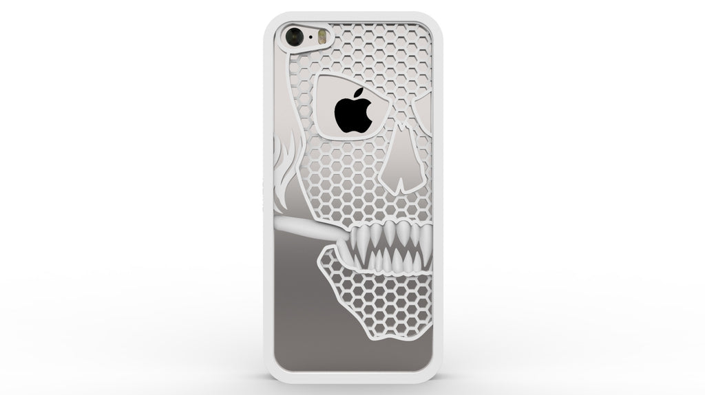 Smoking Skull iPhone Case