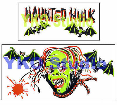 Museum Quality Reproduction MPC Haunted Hulk Pirate Ship Sticker Set