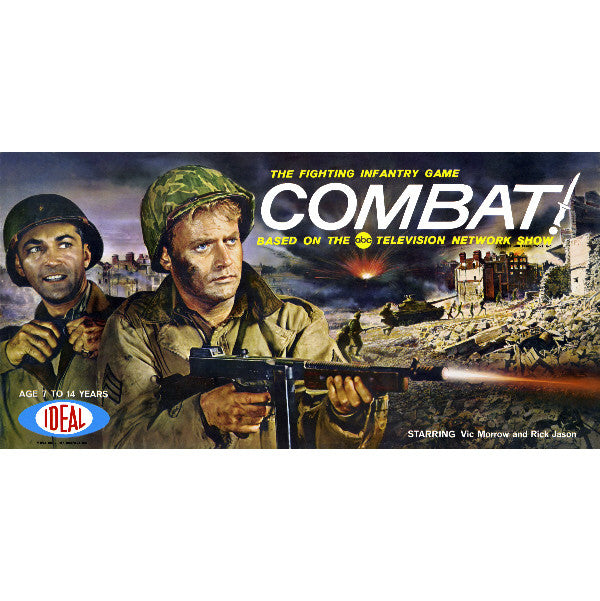 1963 COMBAT! Game Box Art Giclee Print Vic Morrow Rick Jason WWII Army