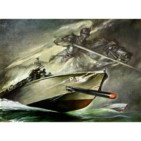 ELCO PT Boat Knights Of The Sea Giclee Reproduction Print 11x14 OR 13x19 Print