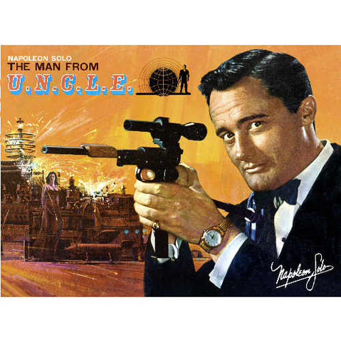 Giclee Print of Napoleon Solo The Man From U.N.C.L.E. Robert Vaughn