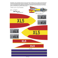 Museum Quality Fireball XL5 TV Style Sticker Sets for 20 Inch MPC Toy