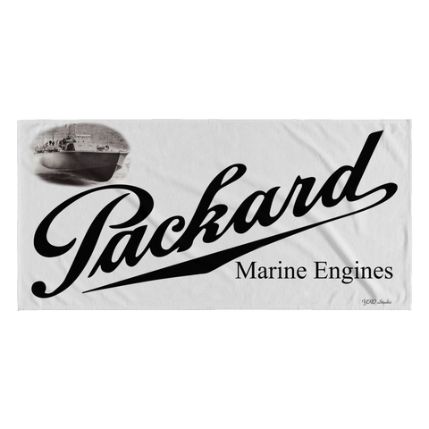 30 x 62 Packard Marine Engines Beach Towel