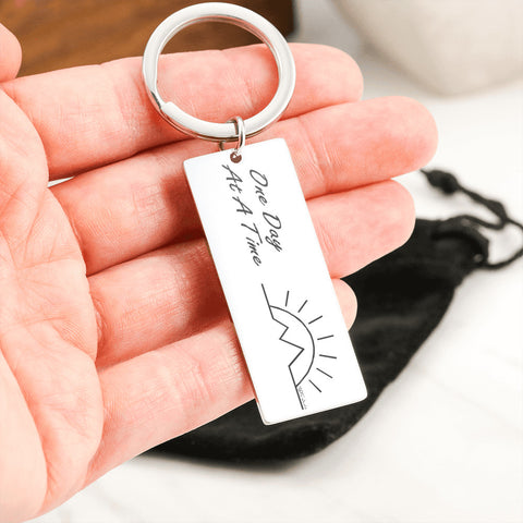 One Day At A Time Keyring
