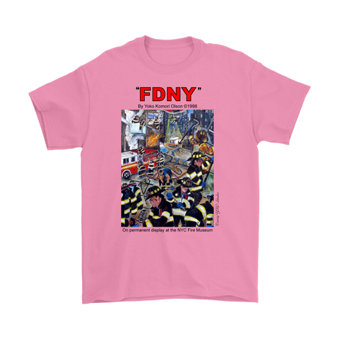 FDNY Painting by Yoko Komori Olson T-Shirt