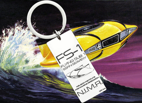 FS-1 Flying Sub Stainless Steel Keyring