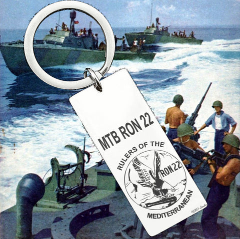 PT Boat Squadron RON 22 Rulers Of The Med Keyring