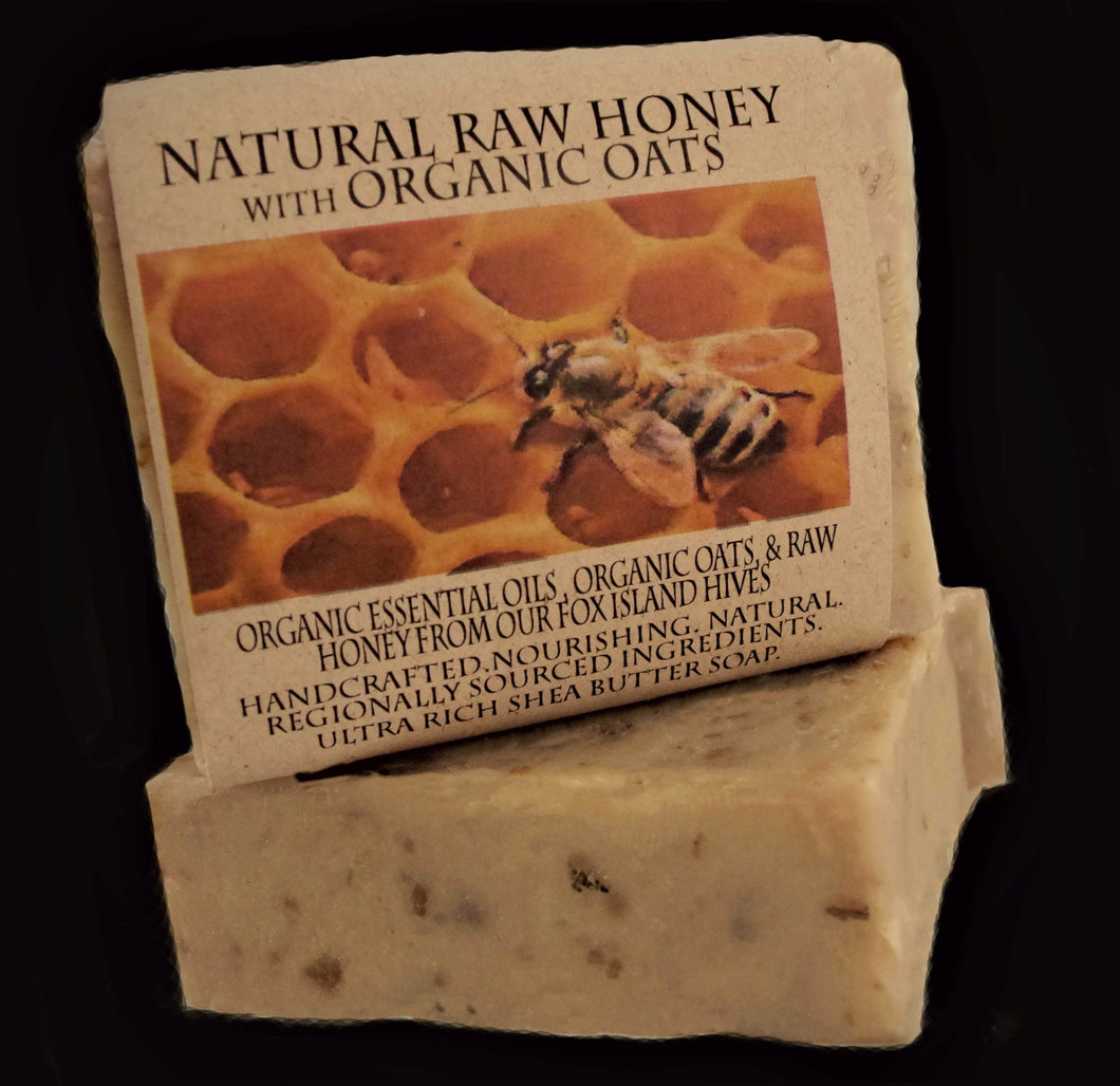 Natural Raw Honey and Oats