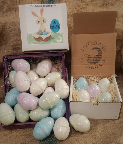 Easter Box of 5 Bath Bomb Eggs