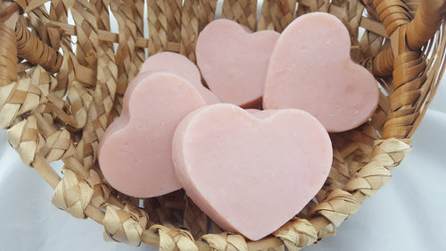 Heart Shaped Pearberry Soap bars