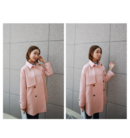 Pink Military Coat A52