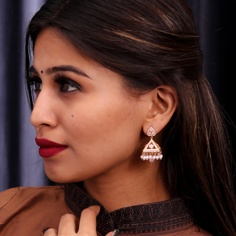 Albeli Gold Jhumki Earrings