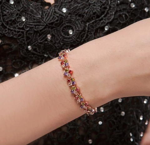 Autumn Flare Crystal colorful Bracelet