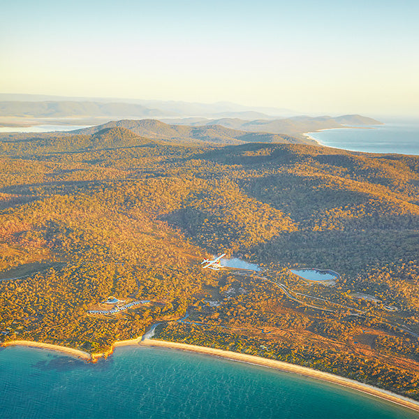 Safire Frecyinet - the view flying overhead with Tasmanian Air Adventures