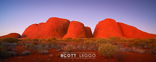 Ancient Land - Photograph of Kata Tjuta (the Olgas) in central Australia