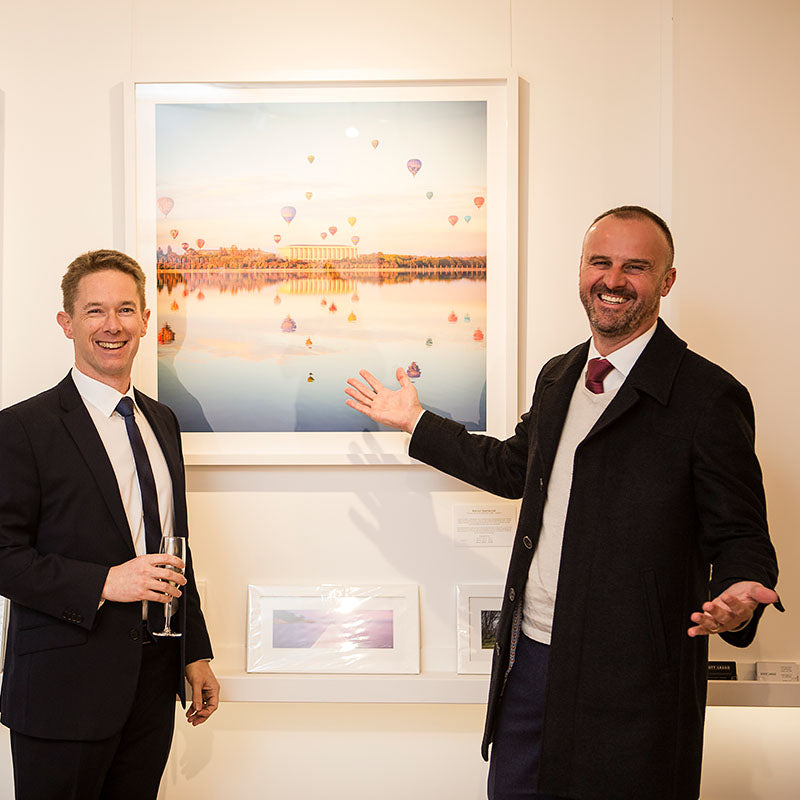 Scott Leggo Gallery opening by ACT Chief Minister Andrew Barr