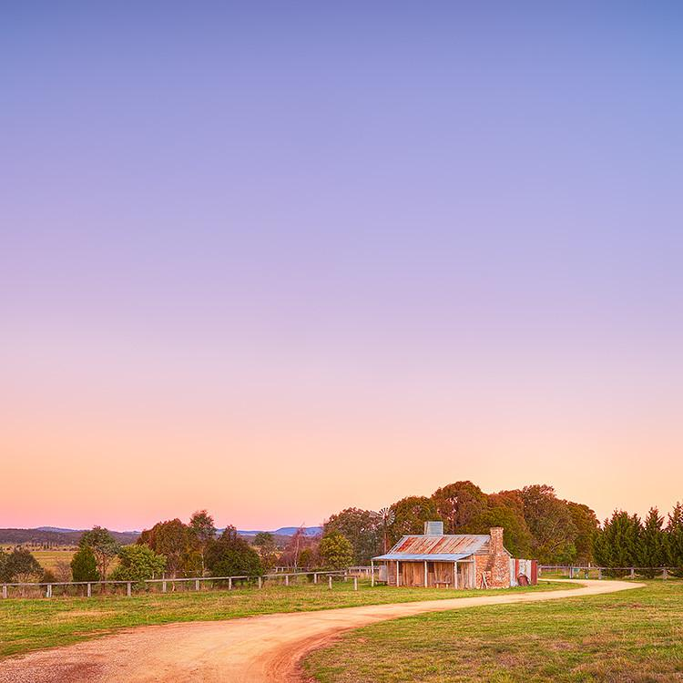 Country Charm - Sunset at Bungendore Farm by Scott Leggo