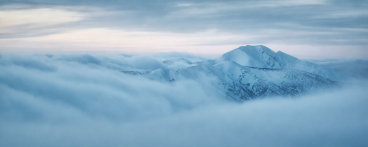 Above It All - Mount Feathertop with snow - Alpine National Park