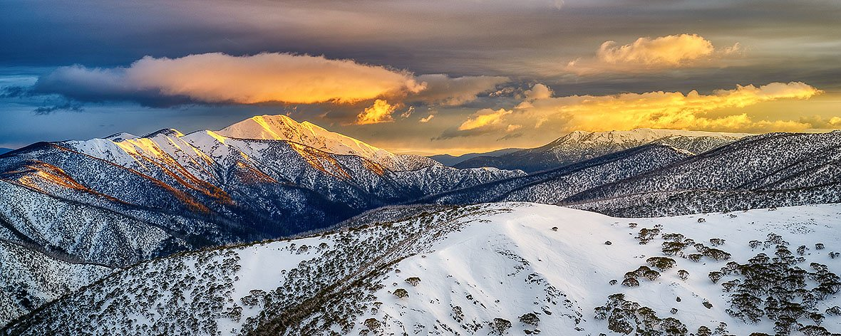 Alpine Magic - Winter sunrise over Mount Feathertop