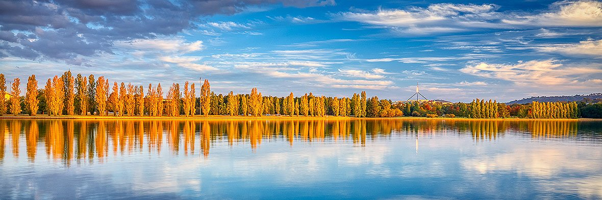 Autumn By The Lake - Canberra