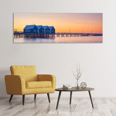Busselton Jetty at sunset - wall art in room example