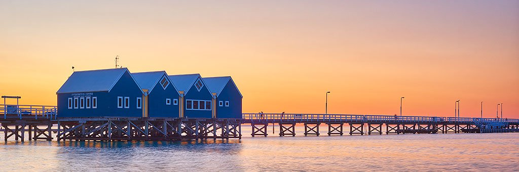 Busselton Jetty at sunset