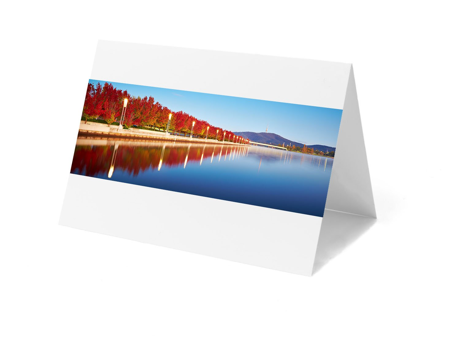 Canberra greeting card - Autumn Sunrise