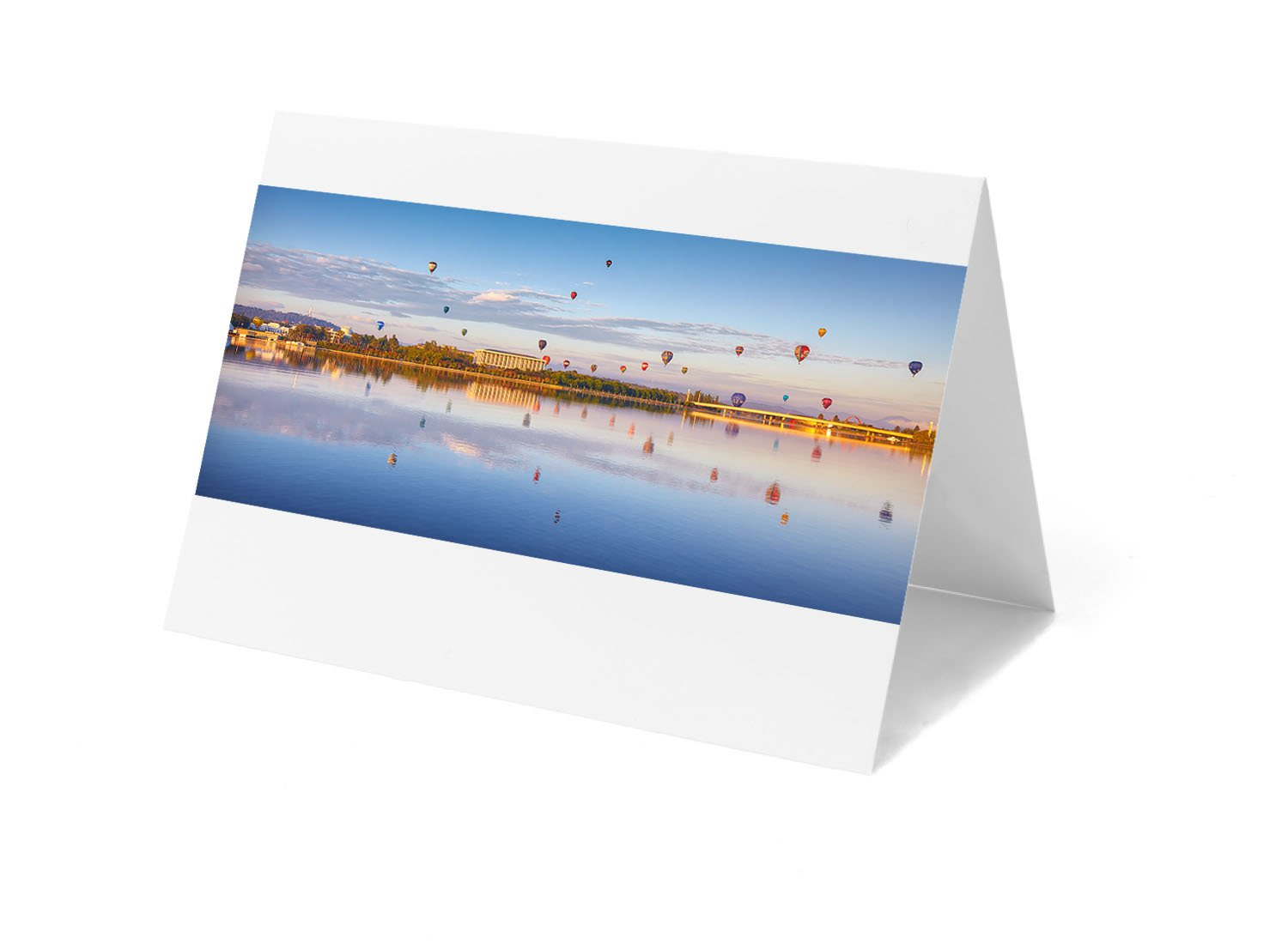 Canberra greeting card - Dawn Drifters