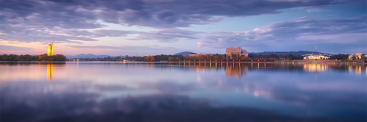 Canberra Morning - Sunrise over Lake Burley Griffin