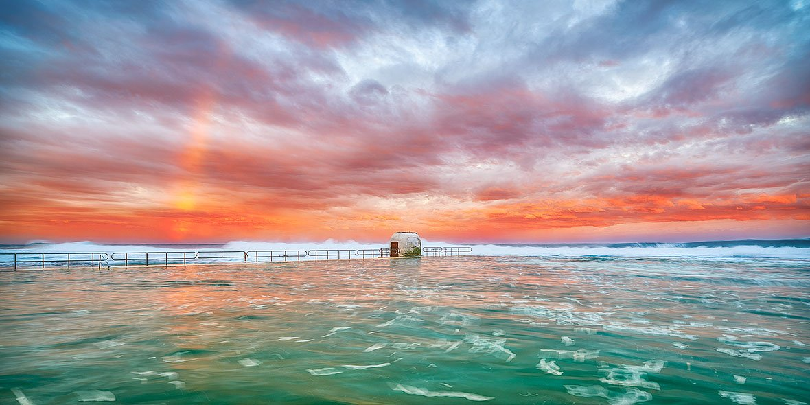 Colour Burst - Storm over Merewether Ocean Baths, Newcastle