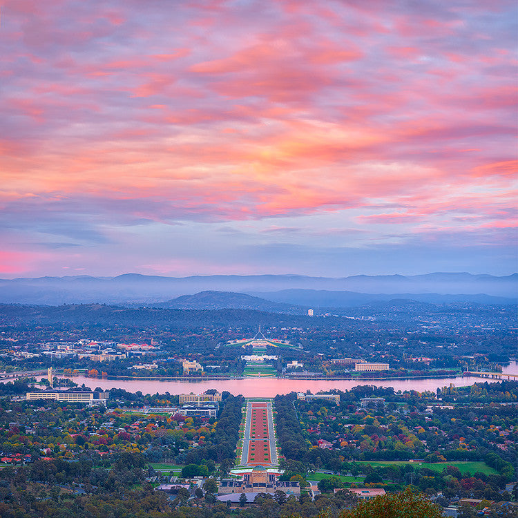 Colours Of Canberra - Sunrise over the national capital
