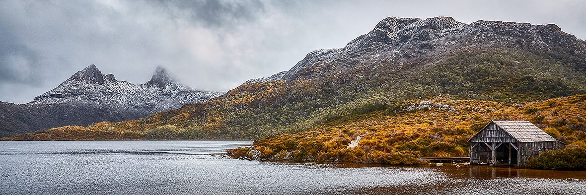 Cradle Mountain In Fog - Cradle Mountain - Lake St Claire National Park, Tasmania