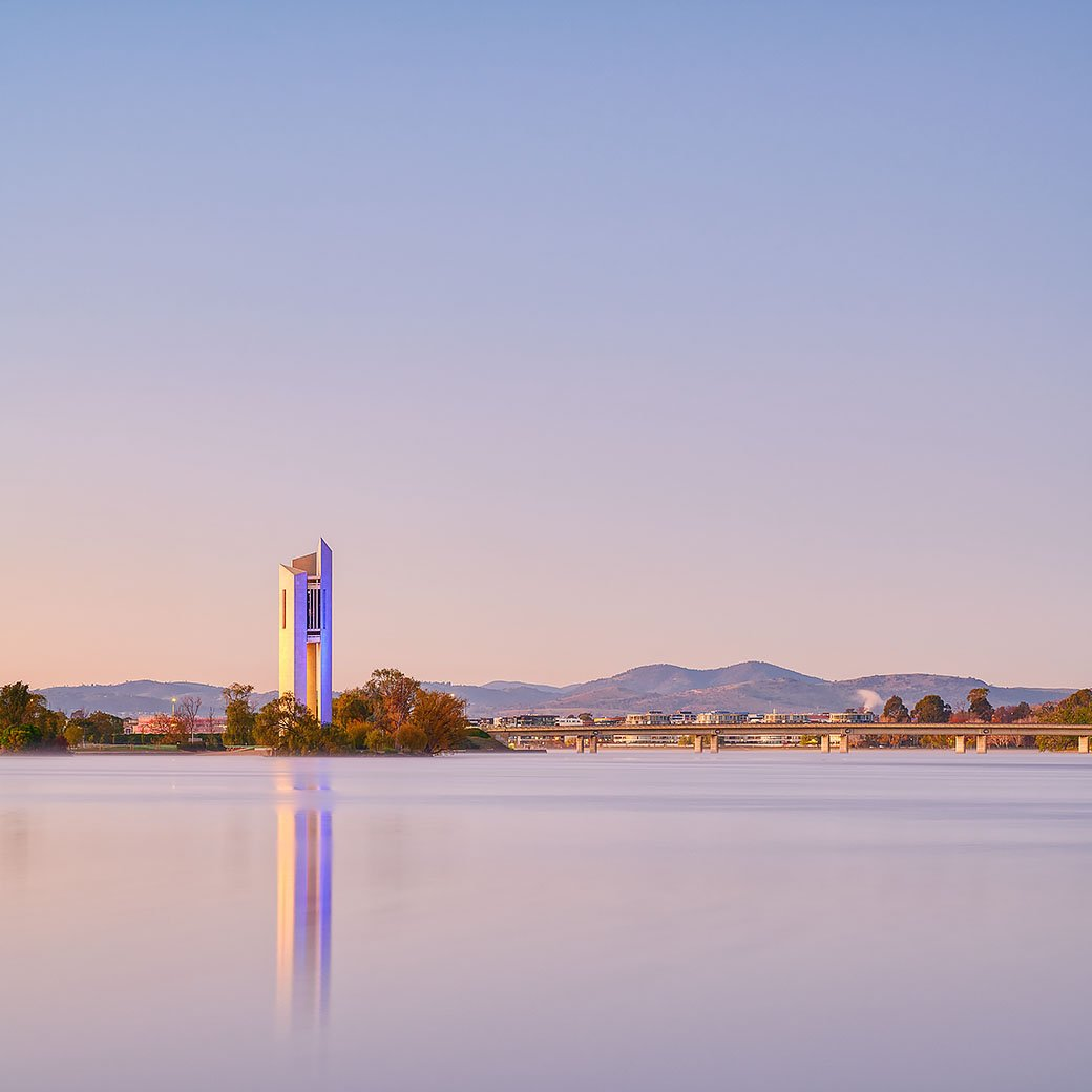 Crisp - Photograph of the National Carillon, Canberra