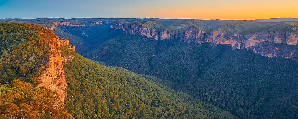Sunrise over the Grose Valley, Blue Mountains National Park