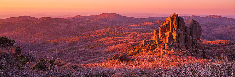 Fire And Rock - Mount Buffalo