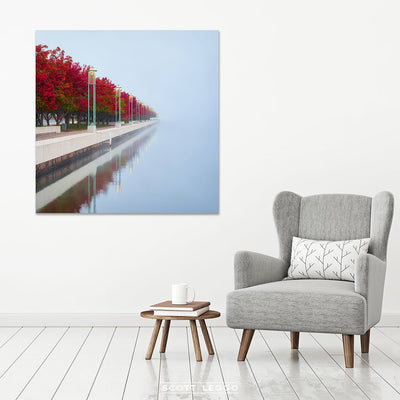 Red Serenity - canvas wall art
