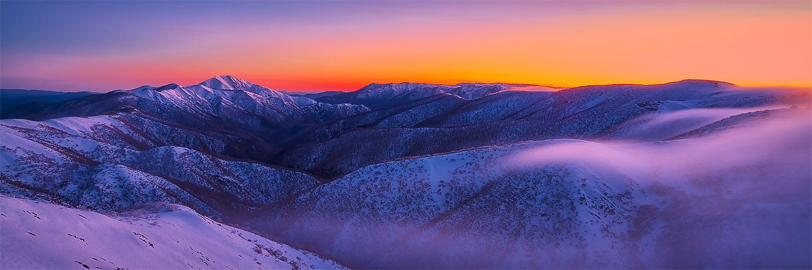 First Light - Sunrise over Victoria's Alpine National Park