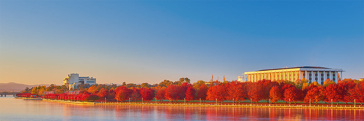 Simply Red - National Library and High Court, Lake Burley Griffin, Canberra