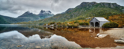 Tasmanian Icons - Cradle Mountain, Dove Lake & Boatshed