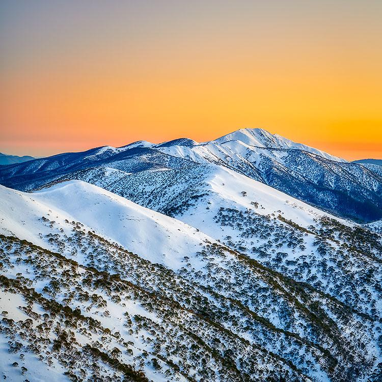 Winter Glow - Mount Feathertop snow