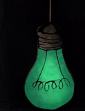 Glow in the dark Light Bulb decorative cushion