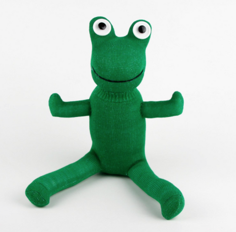 Mr Green Frog Sock Toy