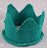 New Born King Knitted Crown