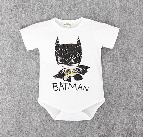Batman and Superman Short Sleeve Onesie