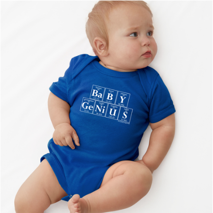 BABY GENIUS Baby Bodysuit - Periodically Inspired