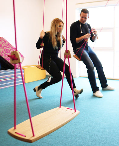 A swing in the office is relaxing and can inspire to think in new ways!